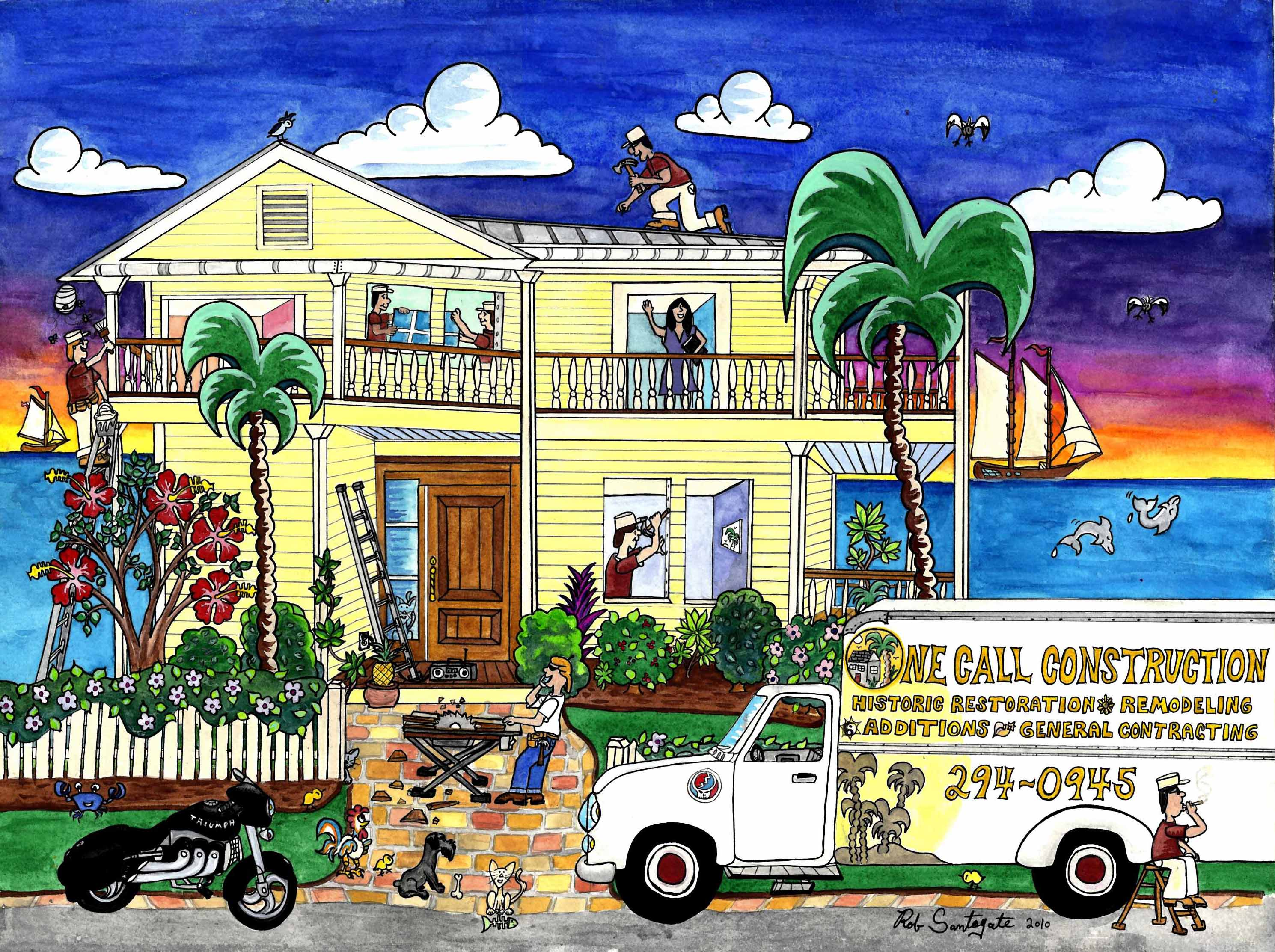 One Call Construction Painting of Key West