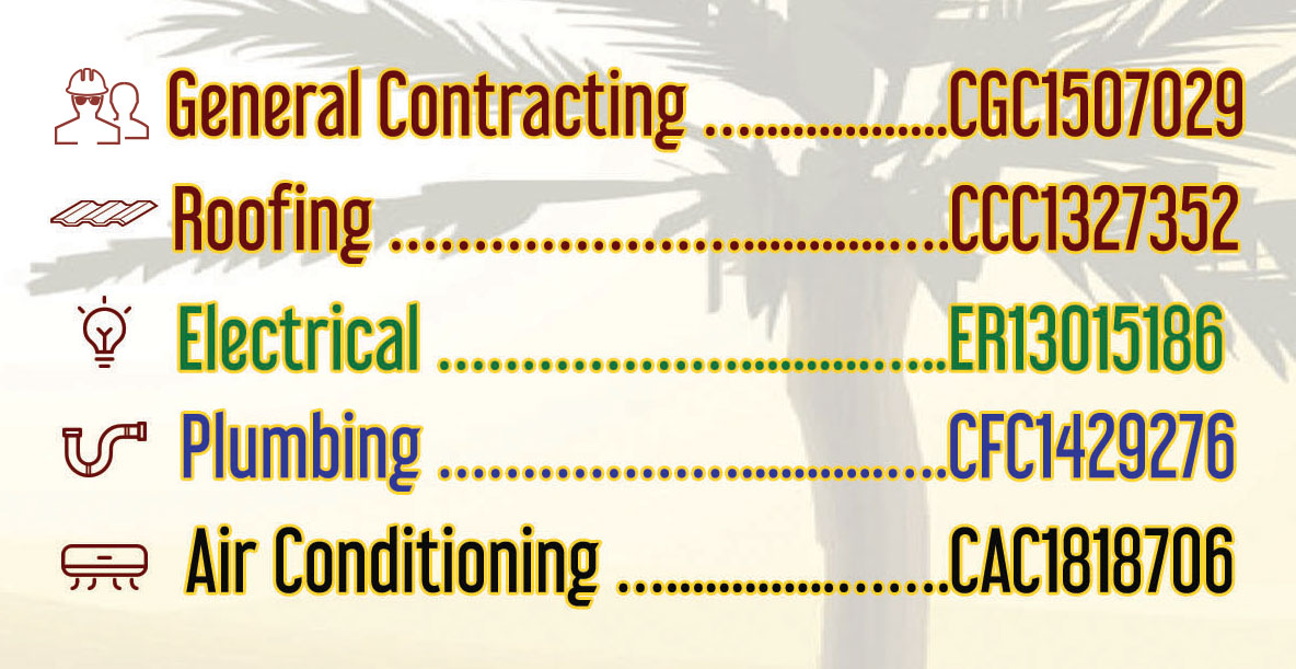 one call construction licenses: general contracting, roofing, electrical, plumbing, air conditioning